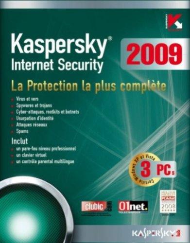Kaspersky internet security 2009 (3 postes, 1 an)