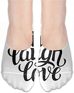 Street Style Sock Live Laugh Love Decor,Simplistic Inspiration Quote Minimalist Featured Typography Design,Black White,socks for toddler boys