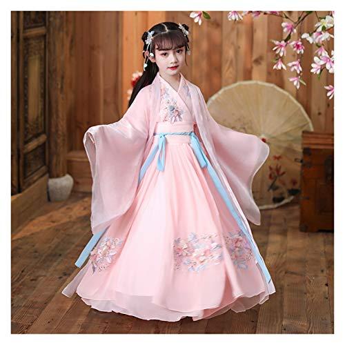 's Hanfu - Disfraz de hada para nia pequea (color: estilo A, tamao: 110 cm)