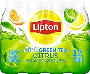 Lipton Diet Green Tea with Citrus, 16.9 Fl Oz (pack of 12)