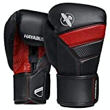 Hayabusa T3 Boxing Gloves for Men and Women - Black/Red, 16 oz