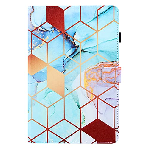iPad Air 3th Gen 2019 / iPad Pro 2017 10.5 Inch Case, PU Leather Smart Cover with Auto Wake/Sleep & Stand Function Pen Holder Wallet Protective Shockproof Case for iPad 10.5' Tablet, Colorful Marble