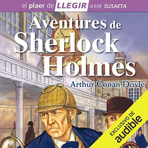 Diseño de la portada del título Aventures de Sherlock Holmes (Narración en Catalán)