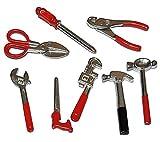 Unbekannt Miniatur 8 TLG. Set Werkzeug - für Puppenstube Maßstab 1:12 - für Werkzeuge Puppenhaus...