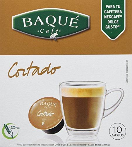 Cafés Baqué - 10 Capsulas Compatibles Dolce Gusto. Café Cortado
