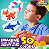 Creative Kids Air Dry Clay Modeling Crafts Kit - Super Light Nontoxic - 50 Vibrant Colors & 6 Clay Tools - STEM Educational DIY Molding Set - Easy Instructions – Gift for Boys & Girls 3+ (50 Pack) #2