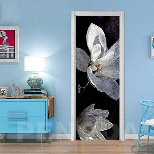 Deurfolie 3D Deurfolie Home Decor 3D Deur Sticker Waterdicht Behang Prints Retro Bloem Zelfklevend -As_Shown_95X215Cm
