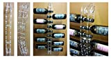 Portabottiglie in plexiglass trasparente per 10 bottiglie