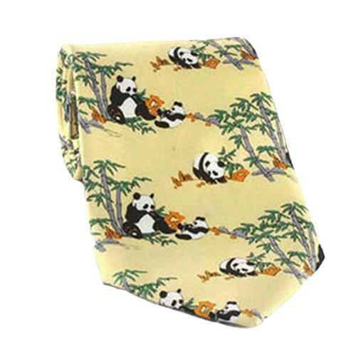 Black Temptation Motif Mode Hommes Cravates/Panda noeuds papillon/cravate/écharpe/Neckwear-Jaune