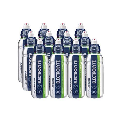 WOW HYDRATE LTD Electrolyte Water, 12 x 500 ml, Lemon & Lime