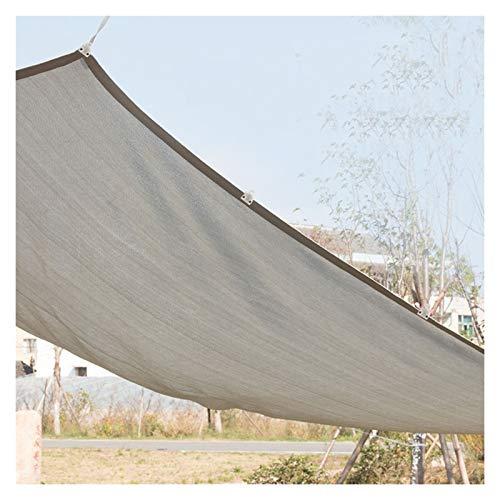 GHHZZQ Impermeable Paño de Protección Solar Respirable Red de Sombra con Ojales de Metal Marquesina Rectangular por Balcón Patio Ventana, Personalizable (Color : Gray, Size : 2x4m)