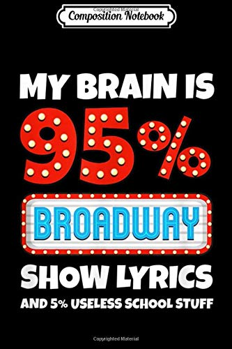 Composition Notebook: My Brain Is 95% Broadway Show Lyrics...