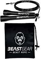 Beast Rope by Beast Gear – Speed Skipping Rope for Fitness, Conditioning & Fat Loss. Ideal for Crossfit, Boxing, MMA,...