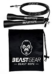 WHY you need the Beast Rope - Skipping is an incredible cardio, conditioning and fat loss exercise. It's perfect for HIIT, interval and circuits. Ideal for Crossfit, boxing and MMA WHAT the Beast Rope does - Our strong, lightweight, durable and flexi...