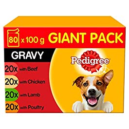 Pedigree Dog Pouches – Mixed Selection in Gravy 80x100g Mega Pack
