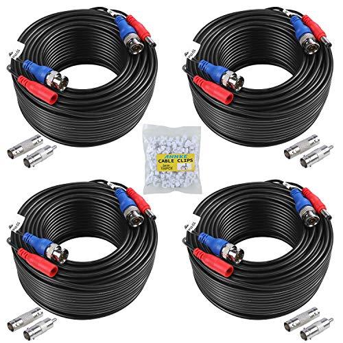 ANNKE BNC Kabel AHD Videokabel CCTV DVR 4 x 30M DC Power für Überwachungskamera Videoüberwachung Überwachungssystem Schwarz