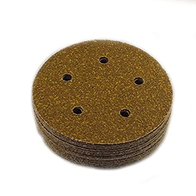 Sungold Abrasives 5-Inch by 5 Hole 40 Grit Heavyweight Premium F-Weight Hook and Loop Discs