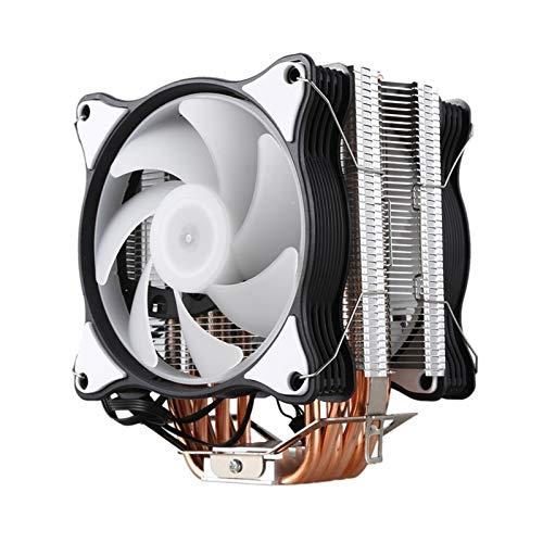 Ventilador de enfriamiento de alto rendimiento Radiador de la CPU 6 de cobre puro 12cm Heat Pipe Torre de enfriamiento sistema de dos CPU 12cm ventiladores de CPU del radiador de refrigeración de refr