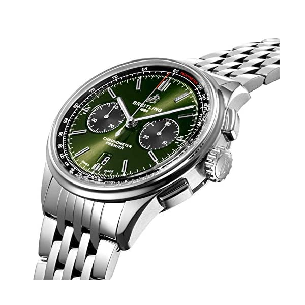 Breitling Watches Breitling Bentley Premier B01 Chronograph Green Dial 42mm AB0118A11L1A1