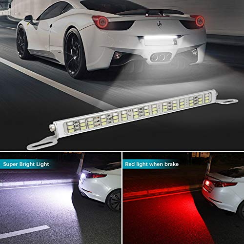 Universal Fit 12V 45 LED License Plate Lamp Light Assembly Replacement, All in One Brake Light Step Courtesy Lights, Dome/Cargo Lights or Under Hood Light (1 Pack)