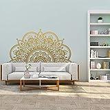 Half Mandala Wall Decal Home Living Room Pegatinas Creative Half Mandala Wallpaper Yoga Studio Meditación Decoración A7 57x28cm