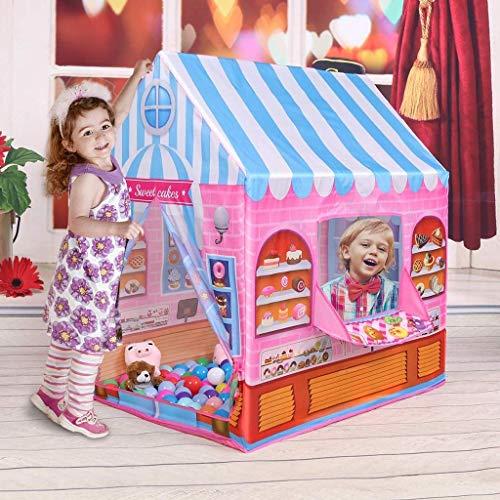 Play Tent, Prinses van het meisje Playhouse voor Indoor Outdoor, Candy House Kids Play Tent, Large Space Kinderen Toy House voor Verjaardag, Pink