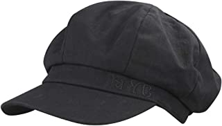 MINAKOLIFE Women's NYC 8 Panel Newsboy Cap Paperboy Hat Cotton Beret Hat Cabbie Fiddler Hat