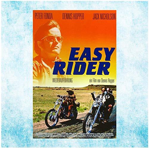 chtshjdtb Easy Rider 1969 Classic Movie Art Poster Leinwand Gemälde Bilder Drucken Wohnzimmer Home Decor Geschenke-50X70Cm No Frame 1 Pcs