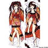 HOICHAN Anime Date A Live Tokisaki Kurumi Sexy Kimono Body Anime Girls Dakimakura Bedding Otaku Waifu Hugging Female Pillow Case Cover W50 x H150 cm
