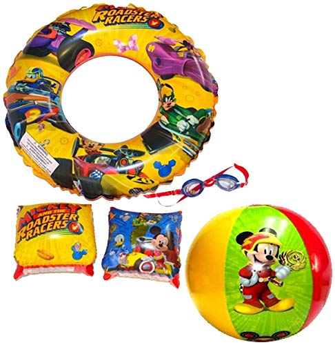 Disney Jr. Mickey Super 5-Piece Goggles and Inflatable Swim Set