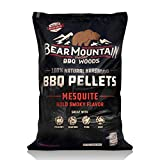 Bear Mountain BBQ 100% All-Natural Hardwood Pellets - Mesquite (20 lb. Bag) Perfect for Pellet Smokers, or Any Outdoor Grill | Rich, Smoky Wood-Fired Flavor