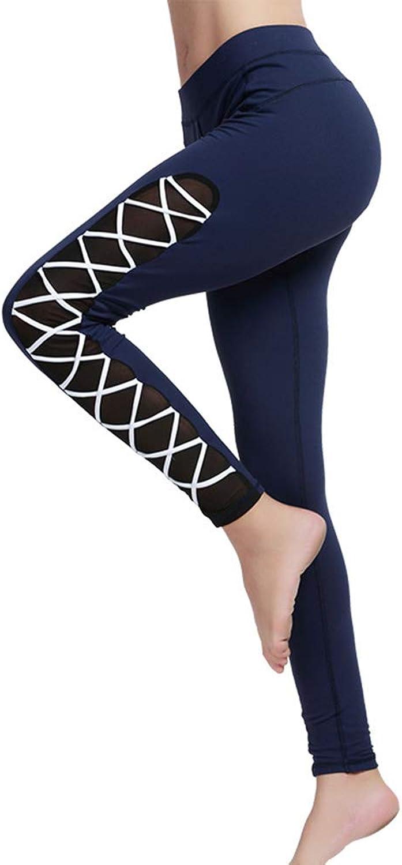 Women's Yoga Pants Tummy Control Workout Non SeeThrough Leggings High Rise Stretch Workout Pants,b,M