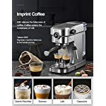 Yabano Espresso Machine, Compact Espresso Maker with Milk Frother Wand, 15 Bar Professional Coffee Machine for Espresso… 11 HIGH PRESSURE ESPRESSO MACHINE - Yabano espresso machine with 15 bar pressure, easy to use, you can be a barista and brew favourite espresso at home. PRESSURE GAUGES - Built in pressure gauges, you can know the accurate pressure and help you in consistently brewing great Espresso. BUILTED IN STEAM WAND - Espresso maker comes with steam wand, you can enjoy cappuccino and latte with creamy and rich foam at any time at home!