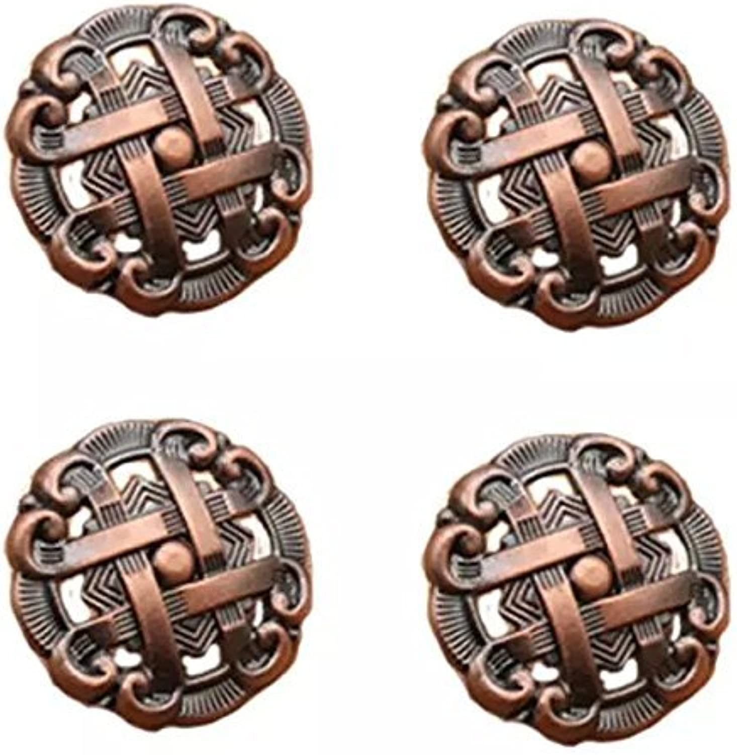 CSKB Bronze 6PCS1.4 Metal Knob With Fretwork Retro Cupboard Cabinet Drawer Pull Door Handle by CSKB
