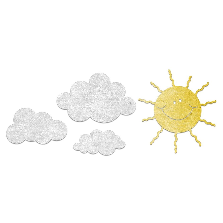 Cheery Lynn Designs B797 Whimsical Sun and Cloud 4 Piece Die Set
