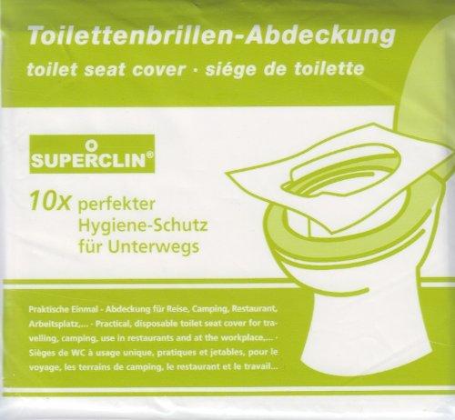Toilettenbrillen-Abdeckung, WC-Brillenschutz 3 x 10er-Pack