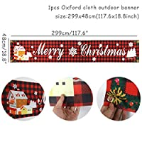 メリークリスマスドアバナー 新年ノエルポーチサインクリスマスドアバナーインテリアホーム2021オーナメントナヴィダードギフト用の布メリークリスマスの装飾をぶら下げ 正面玄関の装飾 (Color : 1set banner Q)