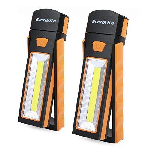 EverBrite Arbeitsleuchte Taschenlampe 2 in 1 LED COB Camping Lantern mit Ständer Anpassung Haken zum Aufhängen Magnet Basis