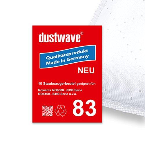 Pack de ahorro–10bolsas para aspiradoras Rowenta–ro 6383EA/ro6383ea Silence Force Compact Animal Care–Aspiradora–dustwave® Marca Bolsa para el polvo Fabricado en Alemania.