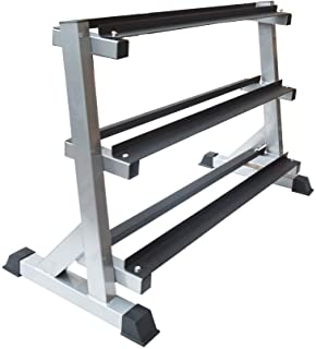 3 Tier Dumbbell Rack for Dumbbell Weights Storage - Home Gym Sturdy Steel with Rubber Feet for Weightlifting Bodybuilding ...