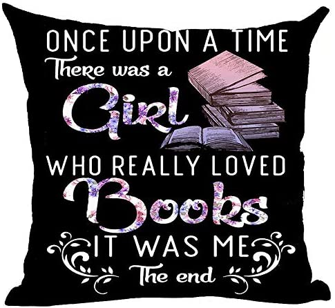 ramirar Purple Word Art Quote Once Upon A Time There was A Girl Who Really Loved Books Decorative product image