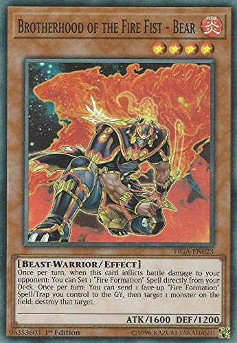 Yu-Gi-Oh! - Brotherhood of The Fire Fist - Bear - FIGA-EN023 - Super Rare - 1st Edition - Fists of The Gadgets