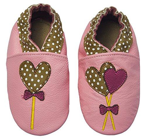 Rose & Chocolat RCC 110 06 Chaussures Bébé Polka Lolly Rose Taille 18/19 EU 0-6 Mois
