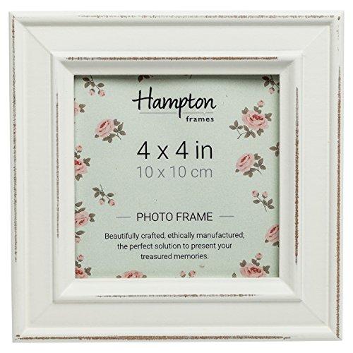 Hampton Frames Paloma Bilderrahmen, Holz, quadratisch, weiß, 14,5x 14,5x 2,5cm