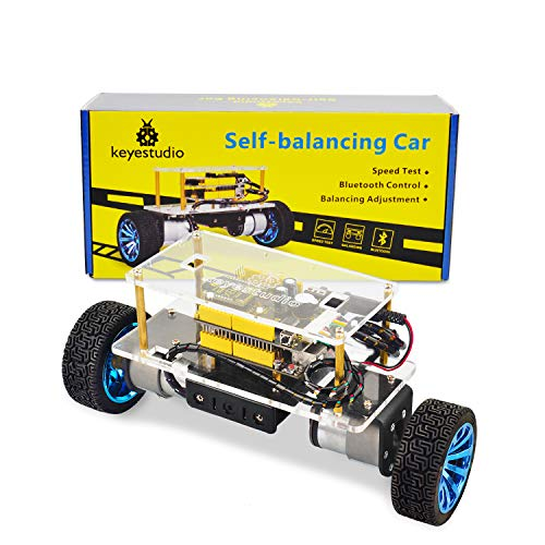 KEYESTUDIO Selbstbalancierender Roboter Auto Kit für Selbstbau Lernkit mit Tutorial for Arduino UNO
