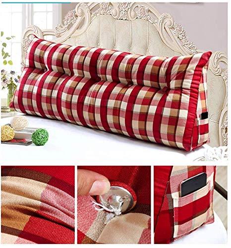ZXL rugkussens rugleuning voor bed bank kussens rug kussens voor lounge of pallet meubilair Schotse stijl 7 grootte (Maat: 100 * 20 * 50)