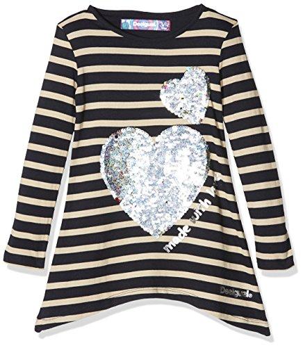 Desigual Mädchen TS_Linx Langarmshirt, Blau (Navy 5000), 164 (Herstellergröße: 13/14)