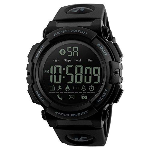 Hffan Smartwatch , Bluetooth Smart Watch Bracelet Fitness Tracker Armband Sportuhr mit Pulsmesser Schlafmonitor Schrittzähler, Armbanduhr iOS Android für Damen Herren Laufen/Wandern/Klettern