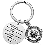 College Graduation Gift for Her - Behind You All Your Memories Grad Keychain for Women Girls, High School Graduation Gifts for Her Him