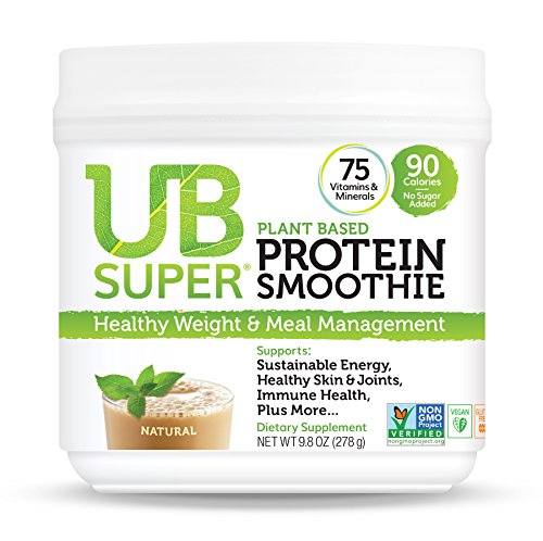 UB Super Plant Based, Vegan Protein Powder, Gluten Free, SuperFood, Nutrient Rich, Smoothie Mix Dietary Supplement (Natural)